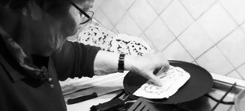 testo romagnolo per cuocere la piadina