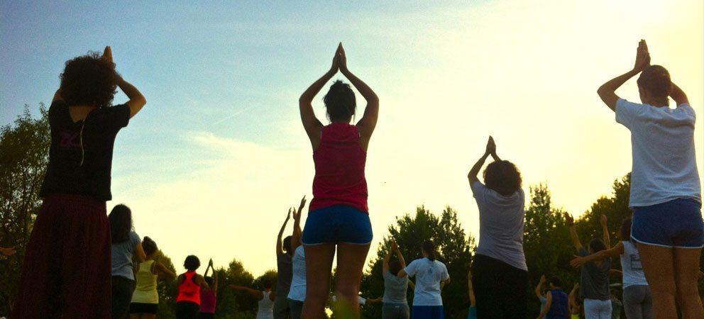 Corsi di ginnastica all'aperto a Rimini