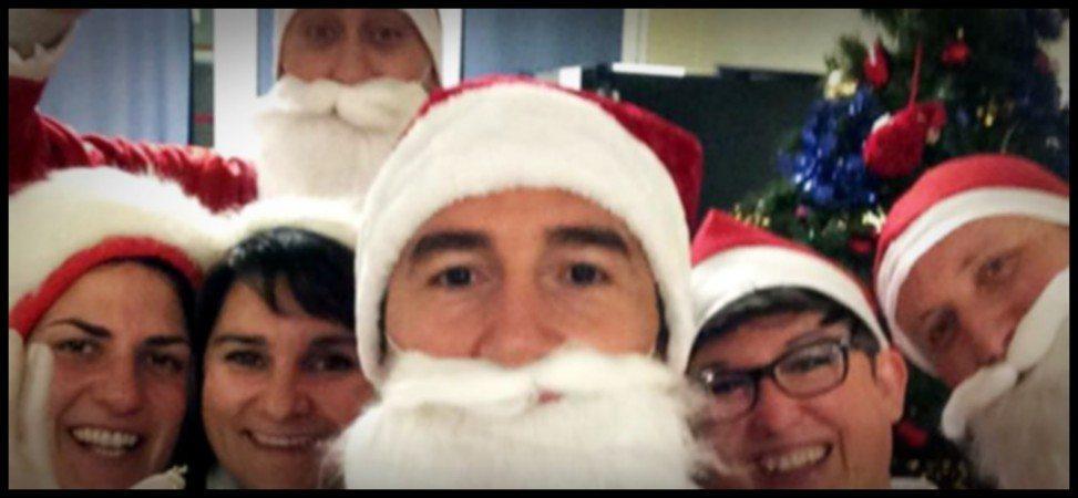 Sei di Rimini se... e la Banda di Babbi Natale in azione all'ospedale