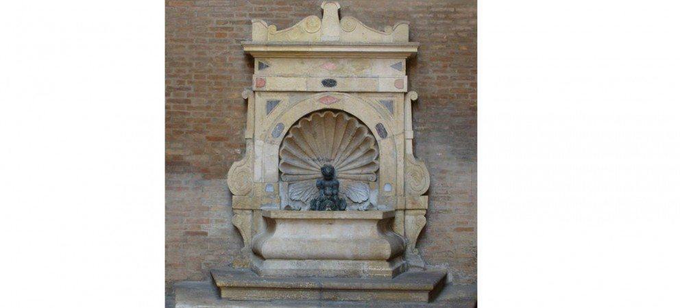 Fontanella col putto, palazzo dell'Arengo