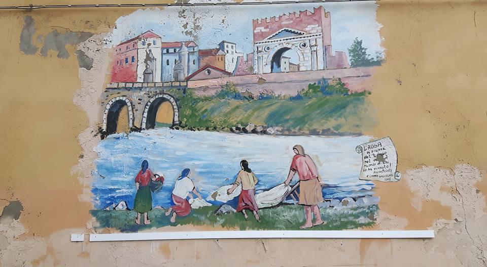 Borgo San Giovanni a Rimini, lato mare e lato arco