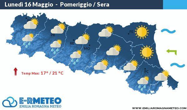 Previsioni meteo a Rimini 16 – 17 – 18 Maggio 2016