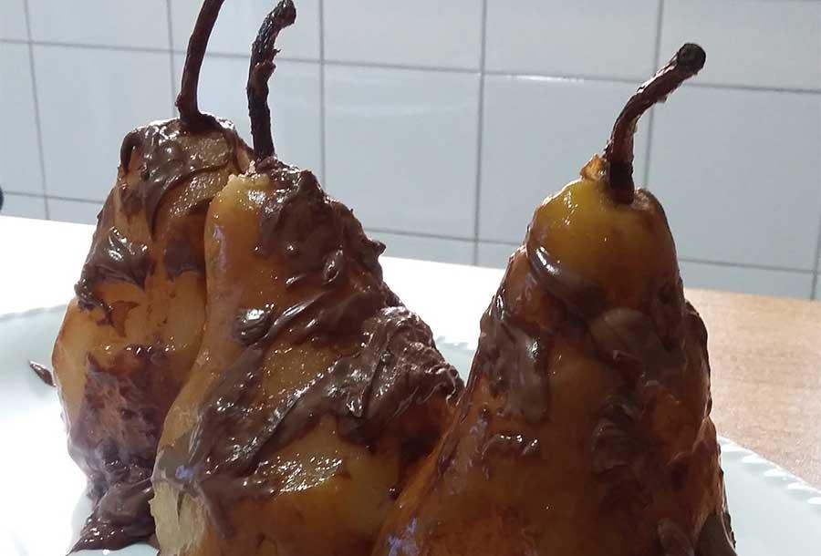 Pere cotte con la Nutella