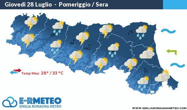 Previsioni meteo a Rimini dal 28 al 31 Luglio 2016
