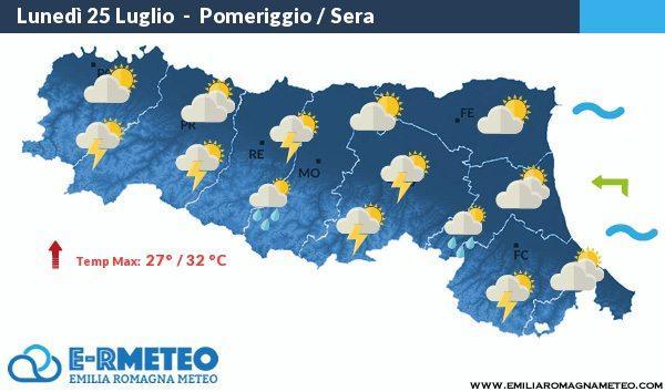Previsioni meteo Rimini dal 25 al 27 Luglio 2016