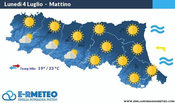Previsioni meteo Rimini dal 4 al 6 Luglio 2016