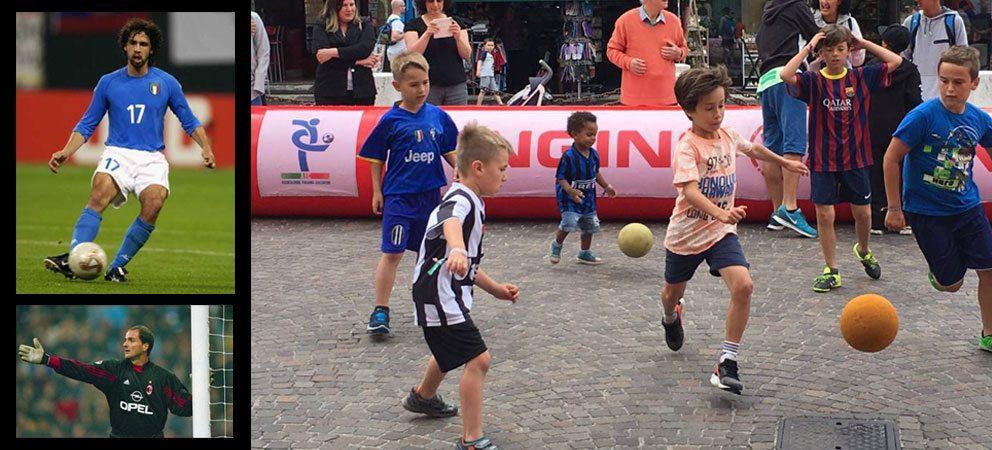 Partita gratuita di calcetto tra bambini e calciatori famosi a Riccione
