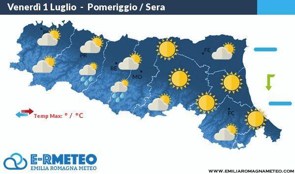 Previsioni meteo per la Notte Rosa 2016