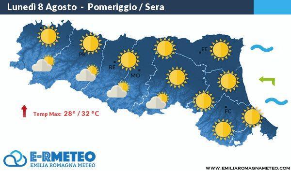 Previsioni Meteo Romagna 8 – 9 – 10 Agosto 2016