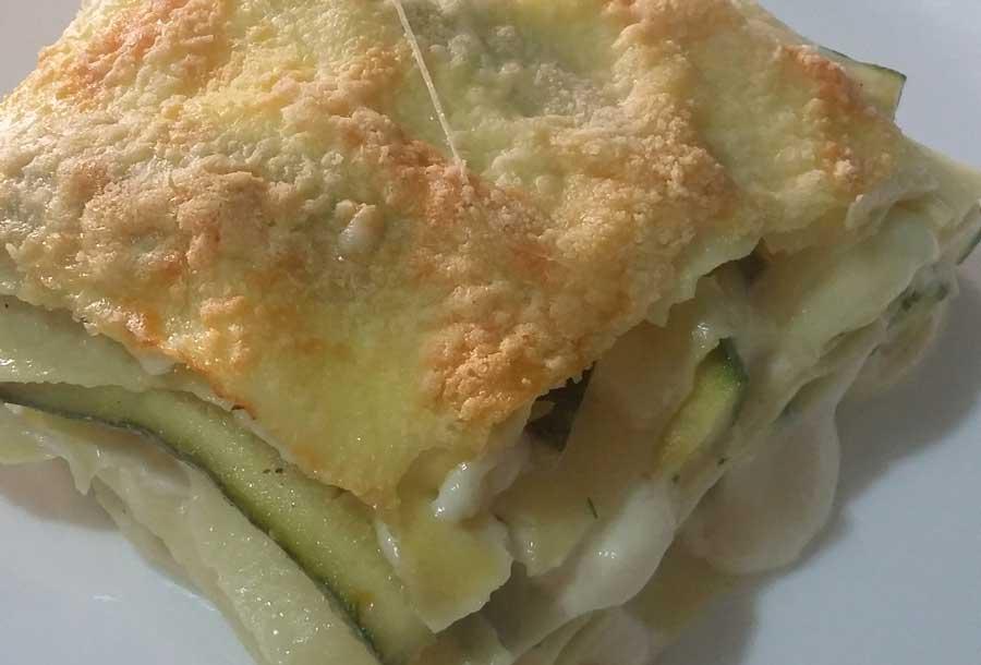 Lasagne di zucchine e stracchino