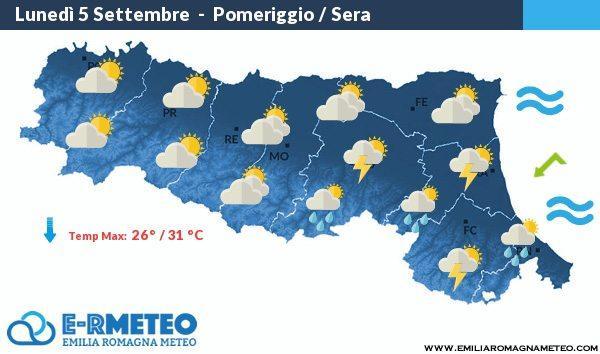 Previsioni meteo Rimini dal 5 al 7 Settembre 2016