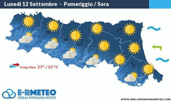 Previsioni Meteo Rimini dal 12 al 14 Settembre 2016