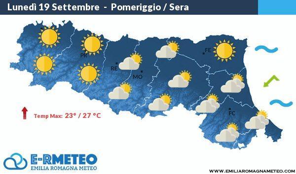 Previsioni meteo dal 19-21 Settembre 2016
