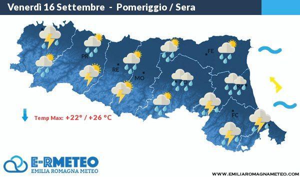 Previsioni Meteo di Rimini dal 16 al 18 Settembre 2016