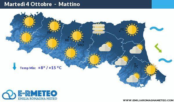 Previsioni meteo dal 4 al 6 Ottobre 2016