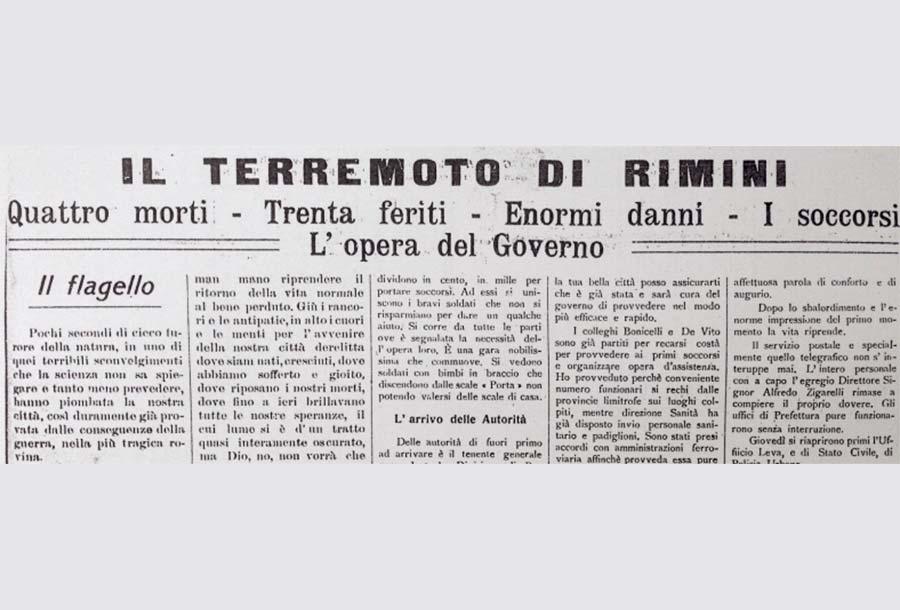 Storia del Terremoto a Rimini