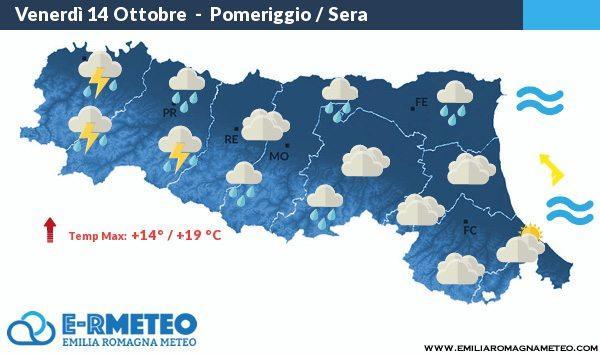 Previsioni meteo dal 14 al 16 Ottobre 2016