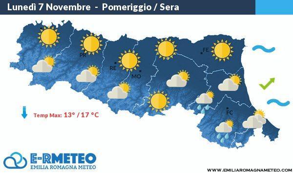 Previsioni meteo dal 7 al 9 Novembre 2016
