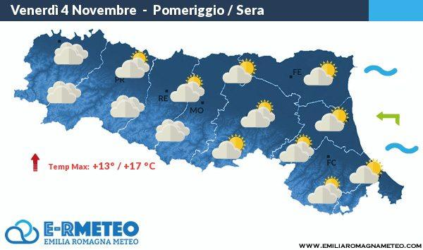 Dal 4 al 6 Novembre 2016 previsioni meteo