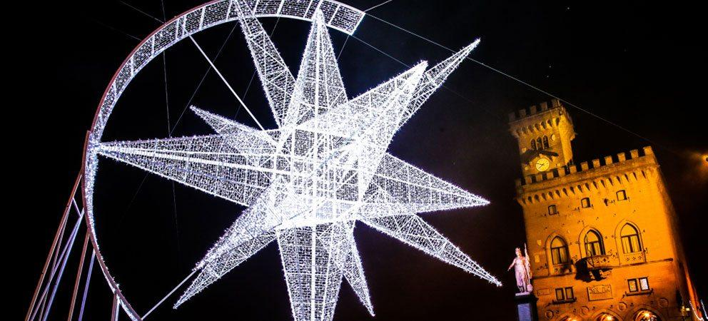 Maxi-stella di Natale a San Marino