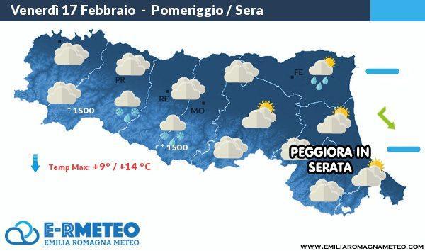 Previsioni meteo dal 17 al 19 febbraio 2017