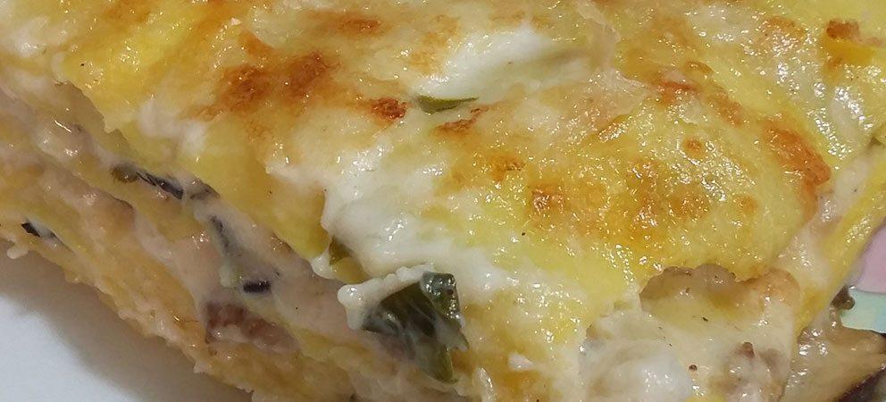 Lasagne con salsiccia e funghi porcini