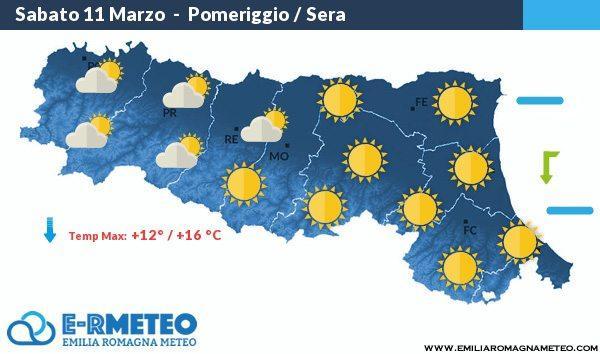 Previsioni meteo dall'11 al 12 marzo 2017