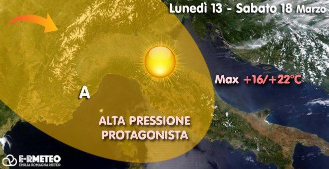 Previsioni meteo dal 13 al 18 marzo 2017