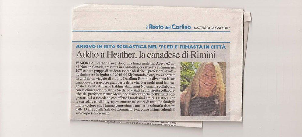 In Ricordo di Heather Dawe