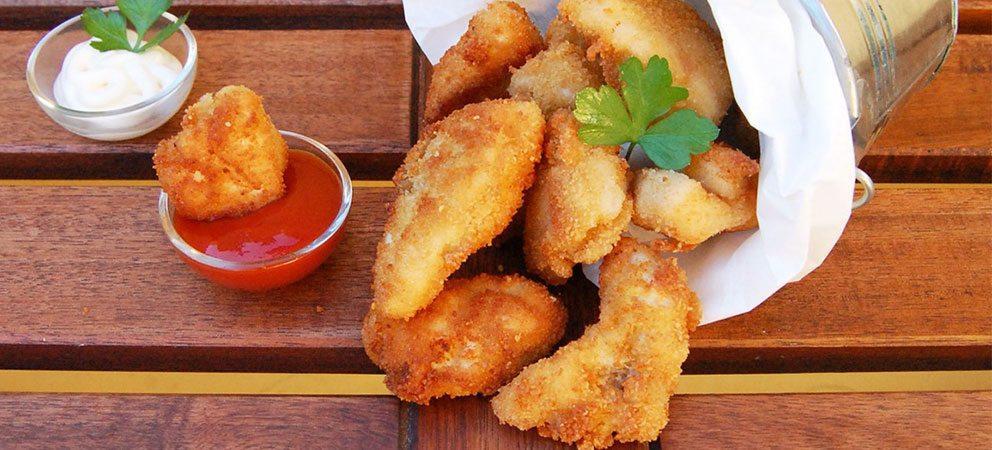 Bocconcini di pollo in marinatura