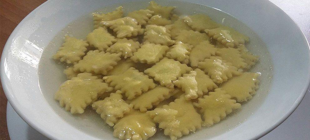 Pasta ripiena in brodo (Spoja Lorda)