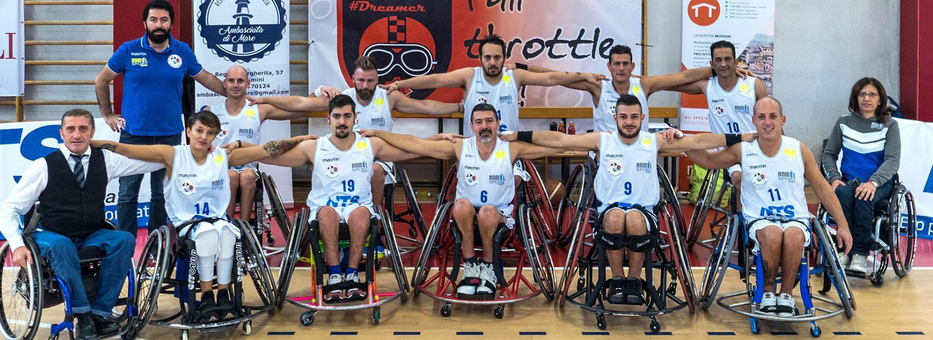 Basket in carrozzella a Rimini