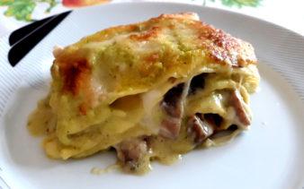 Lasagne con funghi e zucchine
