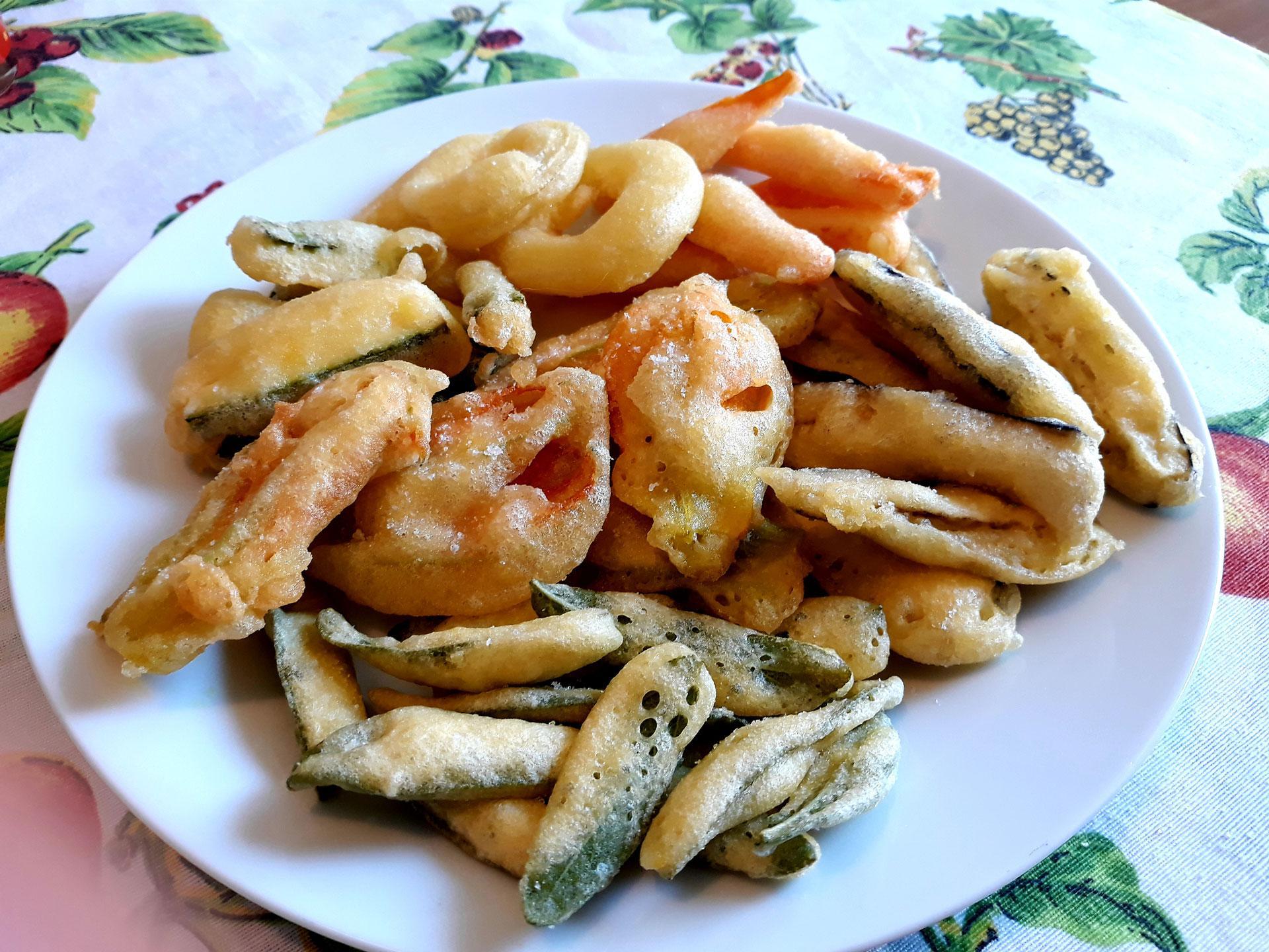 Verdure varie fritte in pastella