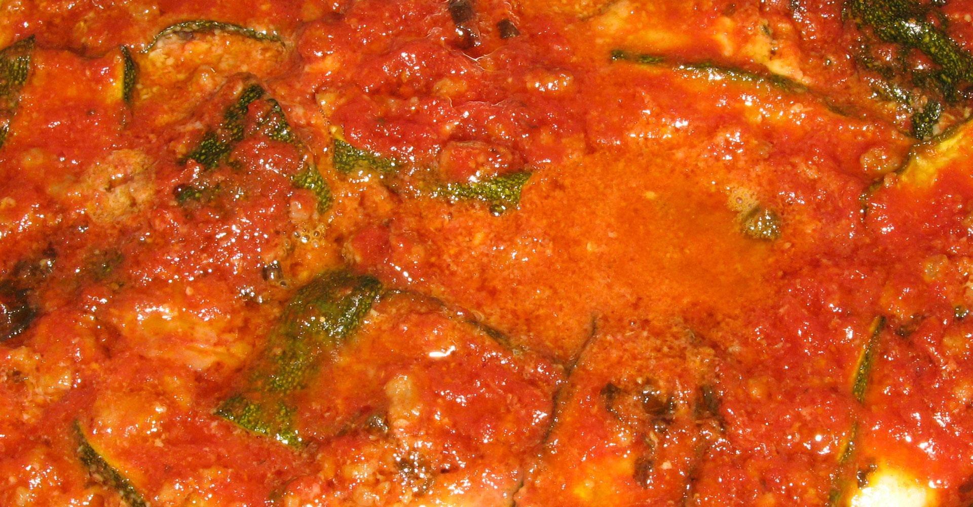 Lasagna di zucchine con pane Carasau