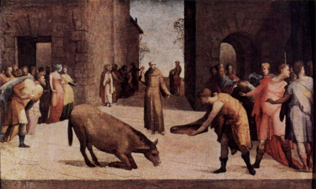 Il miracolo della mula - Sant'Antonio da Padova a Rimini